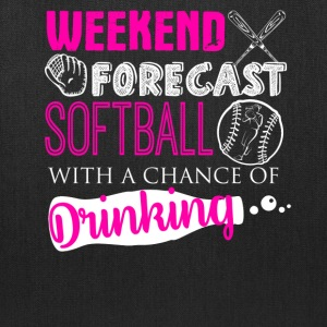 Weekend Forecast Softball Shirt - Tote Bag