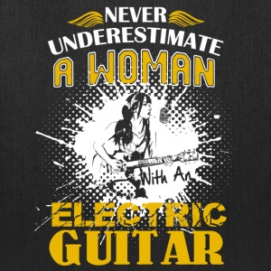 Woman With An Electric Guitar Shirt - Tote Bag