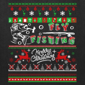 Fly Fishing Shirt - Fly Fishing Christmas Shirt - Tote Bag