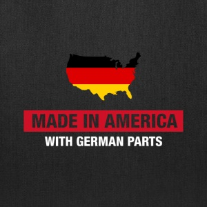 Made In America With German Parts Germany Flag - Tote Bag