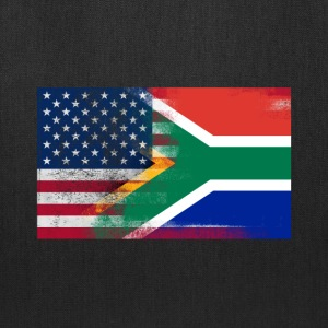 South African American Half South Africa Half Flag - Tote Bag