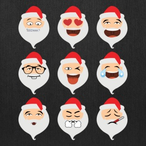 Santa Claus Asian Emojis Christmas Funny TShirt - Tote Bag