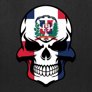 Dominican Flag Skull Dominican Republic Skull - Tote Bag