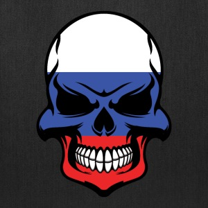 Russian Flag Skull Cool Russia Skull - Tote Bag