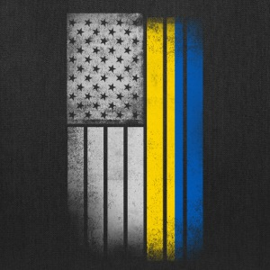 Ukrainian American Flag - Tote Bag