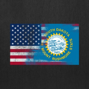 South Dakota American Flag Fusion - Tote Bag