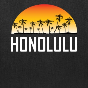 Honolulu Hawaii Sunset And Palm Trees Beach - Tote Bag