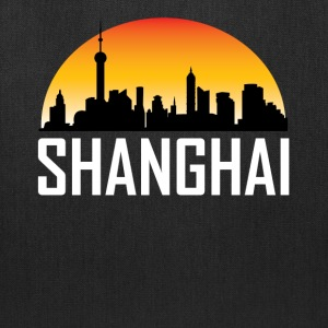 Sunset Skyline Silhouette of Shanghai China - Tote Bag