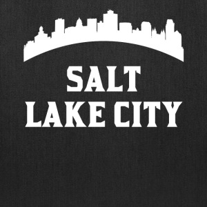 Vintage Style Skyline Of Salt Lake City UT - Tote Bag