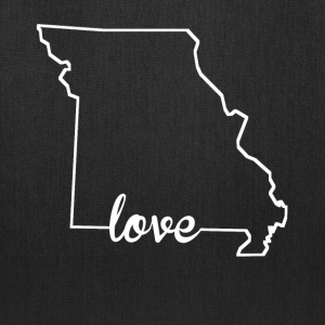 Missouri Love State Outline - Tote Bag