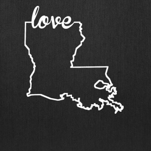 Louisiana Love State Outline - Tote Bag