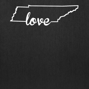 Tennessee Love State Outline - Tote Bag