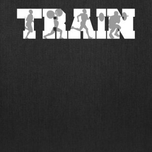Train Fitness Silhouettes Training - Tote Bag