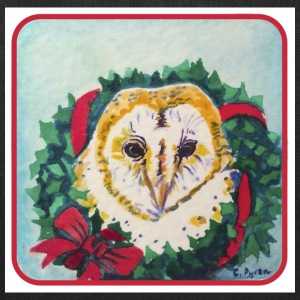 Wreath Owl - Tote Bag