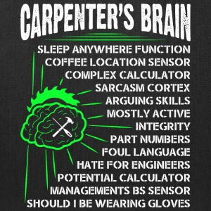 Carpenter's Brain T Shirt - Tote Bag