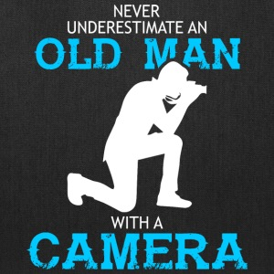 Old Man With A Camera T Shirt - Tote Bag