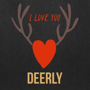 FunnyI Love You Deerly Valentine's Day - Tote Bag