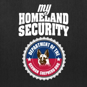 Cute and Cool German Shepherd - Homeland Security - Tote Bag