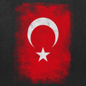 Turkey Turkish Flag Vintage Distressed T-Shirt - Tote Bag