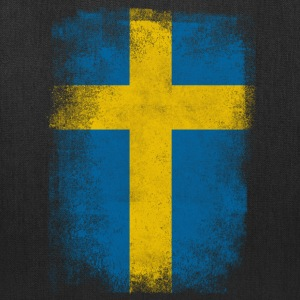 Sweden Flag Proud Swedish Vintage Distressed Shirt - Tote Bag