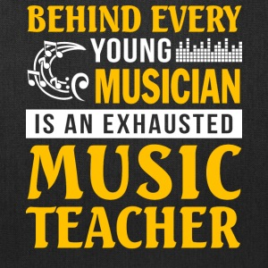Musician is An Exhausted Music Teacher T Shirt - Tote Bag