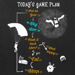Today's Game Plan Sky Dive T Shirt - Tote Bag