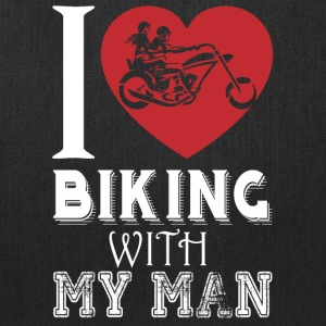 I Love Biking With My Man T Shirt - Tote Bag