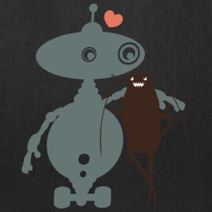 Cute robot cockroach friends falling in love - Tote Bag