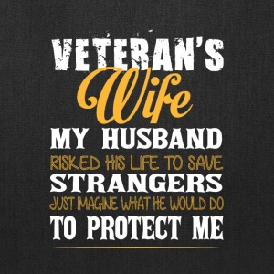 Veteran's Wife T Shirt - Tote Bag