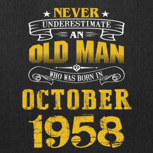 An Old Man Who Was Born In October 1958 - Tote Bag