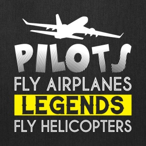 Pilots Fly Airplanes Legends T Shirt - Tote Bag