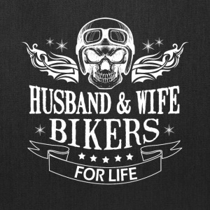 Husband And Wife Bikers For Life T Shirt - Tote Bag