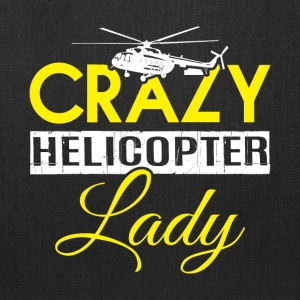 Crazy Helicopter Lady T Shirt - Tote Bag