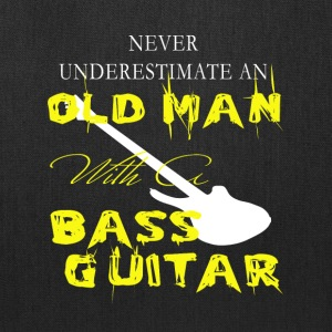 Old Man With A Bass Guitar T Shirt - Tote Bag