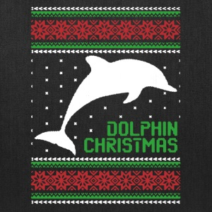 Dolphin Lovers Christmas Sweater - Tote Bag