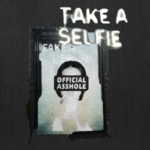 BORDERLESS TAKE A SELFIE FAKE A LIFE OA WITH WOMAN - Tote Bag