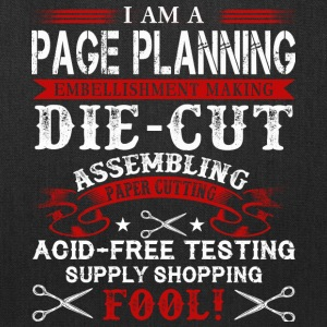 I Am A Page Planning T Shirt - Tote Bag