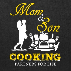 Mom and Son Cooking T-Shirts - Tote Bag