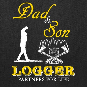 Dad and Son Logger T-Shirt - Tote Bag