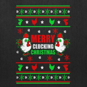 Merry Clucking Christmas Shirt - Tote Bag