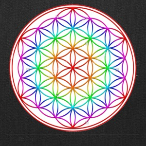 Flower of Life Rainbow - Tote Bag