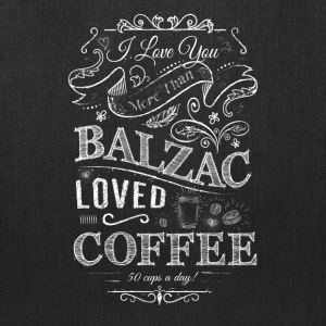 Balzac Loved Coffee - Tote Bag
