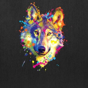 Wolf Neon Bright Colors Animal Lovers - Tote Bag