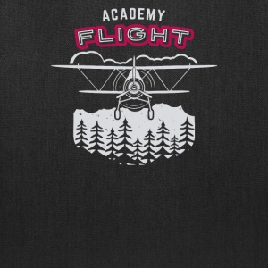 Airplane emblem academy flight - Tote Bag