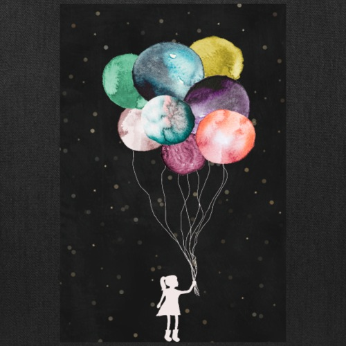 Little girl with balloons - Tote Bag