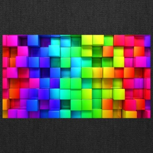 cubic rainbow wallpaper for 2560x1440 62 384 - Tote Bag
