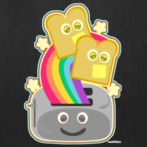 Fun Happy Kawaii Rainbow Toast - Tote Bag