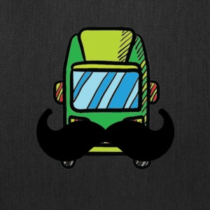 Hip Camper or Van with a Mustache - Tote Bag
