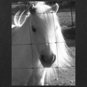 black and white pony photo - Tote Bag