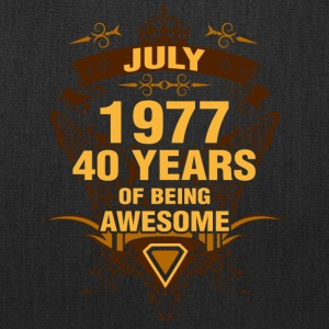 July 1977 40 Years of Being Awesome - Tote Bag